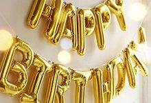 HAPPY BIRTHDAY Gold Letter Balloons